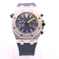 High quality luxury mens wristwatch ROYAL OAK series 26703ST.OO.A027CA.01 42 mm blue dial original rubber strap aaa quartz watch