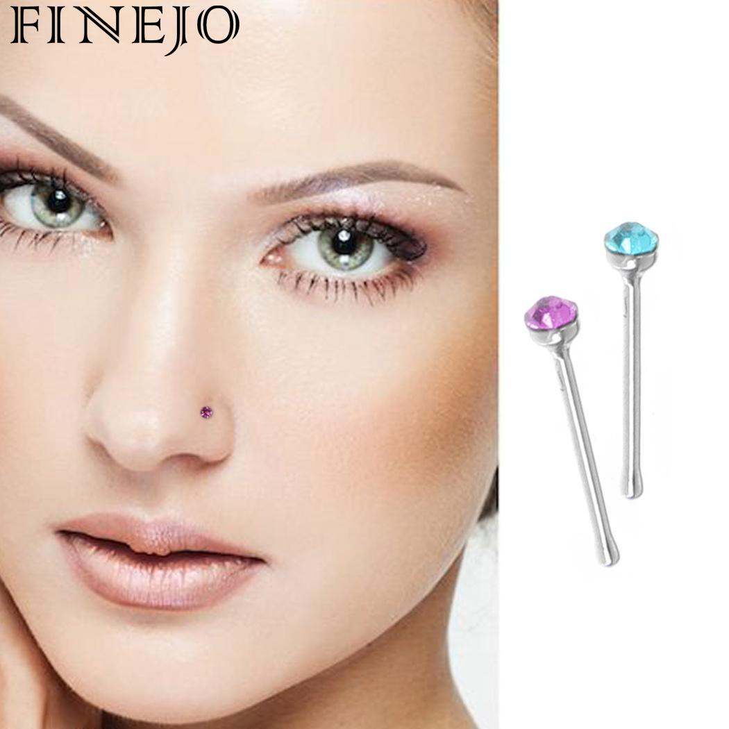 FINEJO Piercing Body Pin Bone Stainless Bar More 60pcs