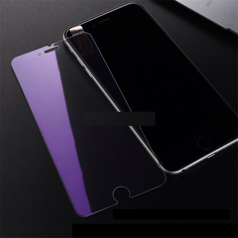 iPhone 6SPLUS Eyecare Purple Screen Protector for iPhone 8 Xr Xs XsMax Tempered Glass and iPhone Full Series Screen Protector
