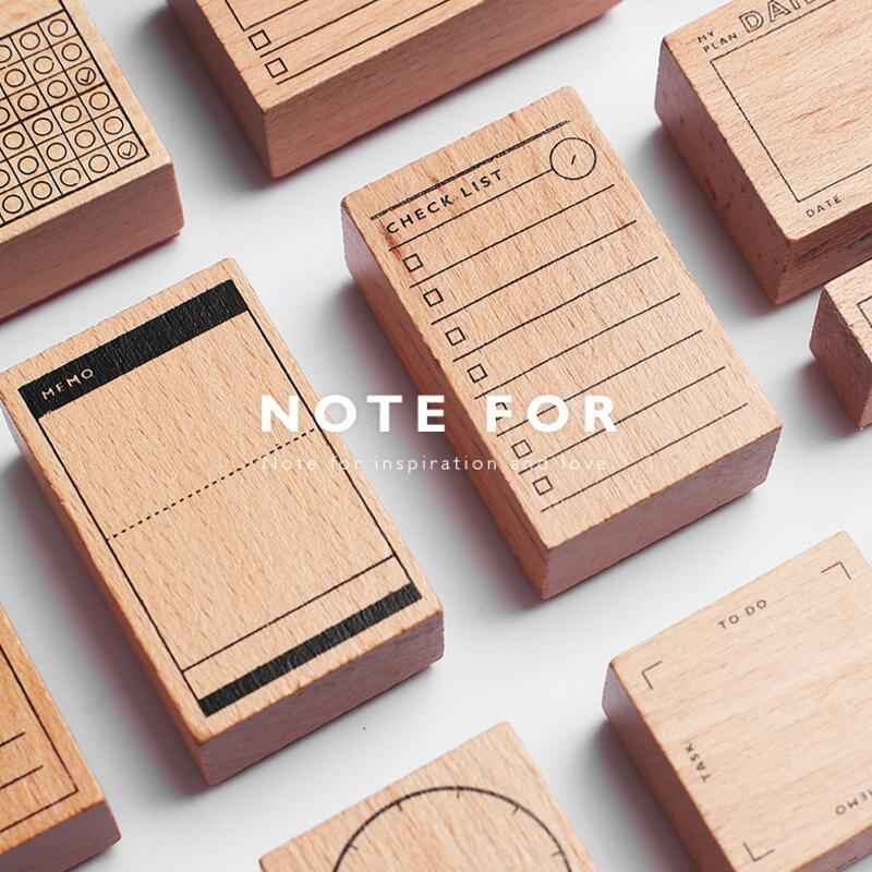 Vintage Daily Plan Check List decoration stamp wooden rubber stamps for scrapbooking stationery DIY craft standard stamp усилитель автомобильный jl audio hd900 5