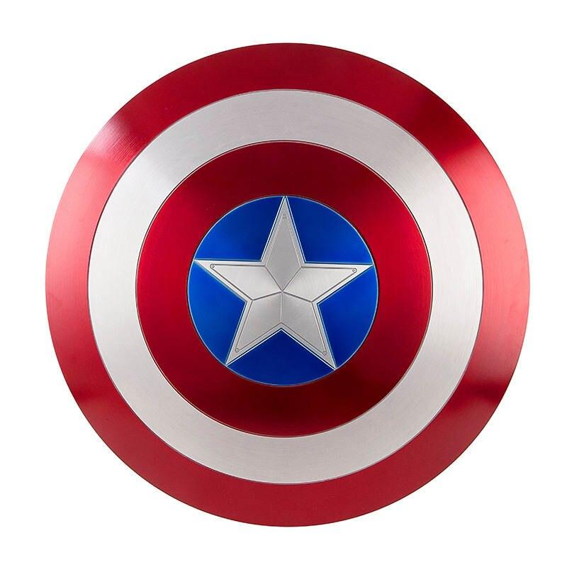 キャプテンアメリカコスプレメタルシールドコスプレギフトハロウィン小道具アルミ合金直径 60cm1: 1 完璧なバージョンスティーブ · ロジャース  グループ上の ノベルティ & 特殊用途 からの 衣装小道具 の中 1