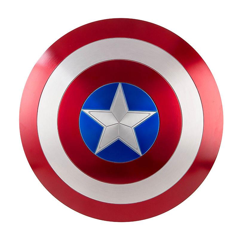 Captain America Cosplay Metal Shield Cosplay Gift Halloween Props Aluminum Alloy Diameter 60cm1:1Perfect Version Steve Rogers