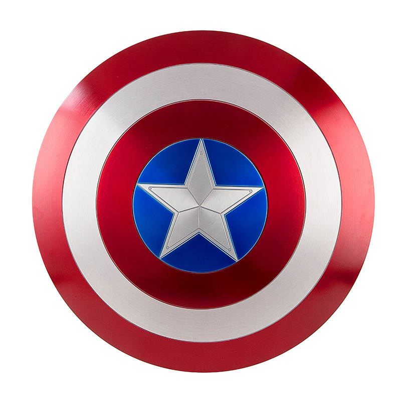 Captain America Cosplay métal bouclier Cosplay cadeau Halloween accessoires alliage d'aluminium diamètre 60cm1: 1 Version parfaite Steve Rogers
