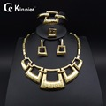 Nigerian Wedding African Beads gold plating Dubai Plated Fashion Women Exaggerated vintage Necklace ring Jewelry set
