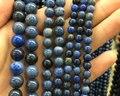 Dumortierite naturais Azul beads, semi preciosa pedra de jaspe contas loose para jóias fazendo 4mm 6mm 8mm 10mm 12mm 1 strand
