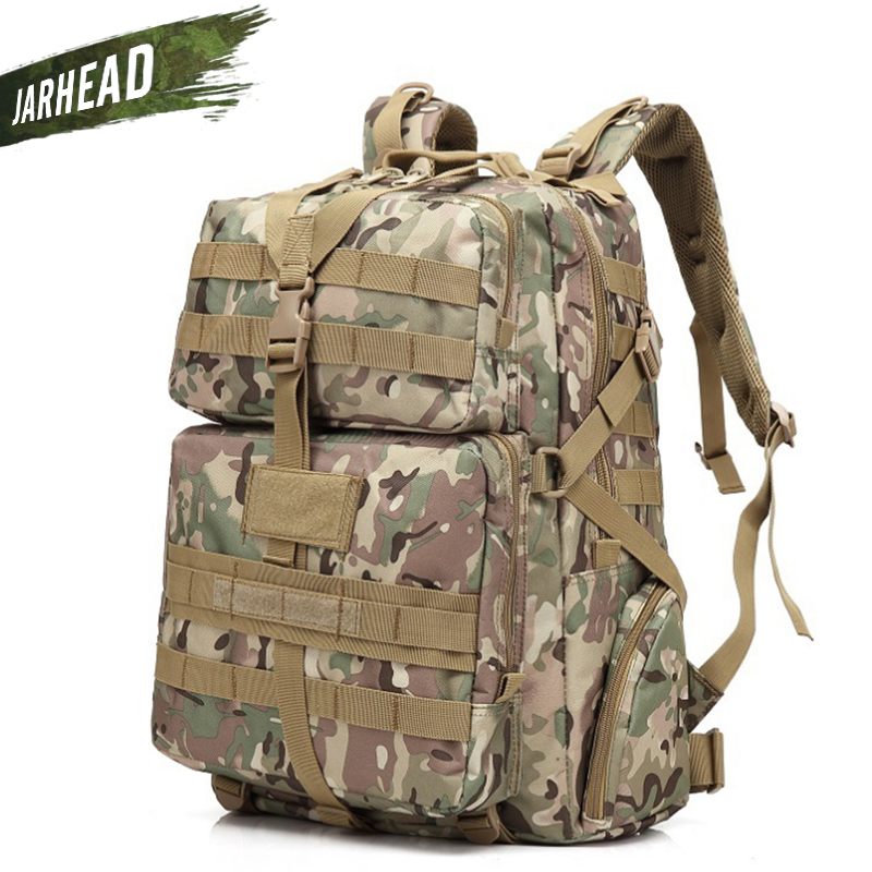 Nouveau Camouflage escalade randonnée sac à dos Molle 900D oxford Camping sac à dos Sport extérieur vélo sac à dos Camping Trekking sac