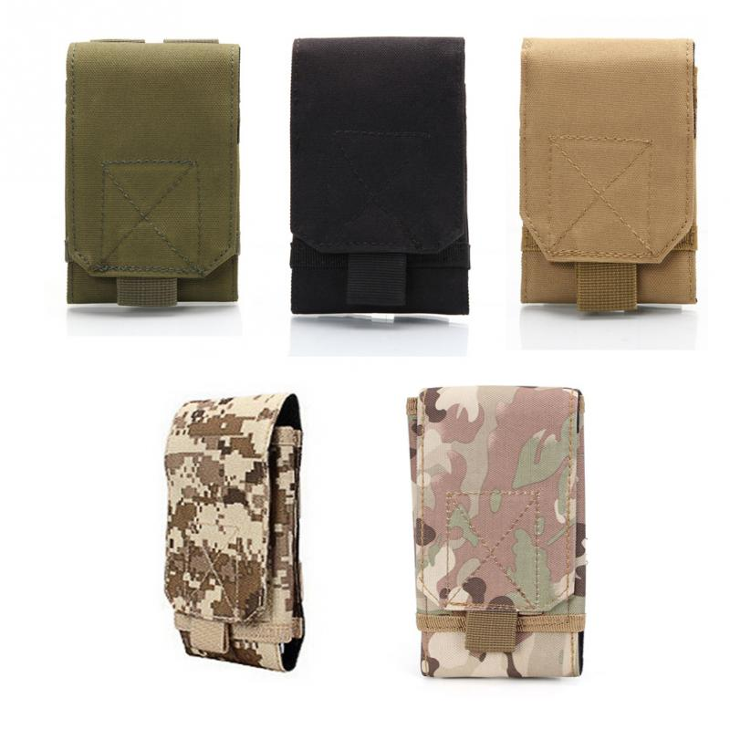 все цены на Men Waist Bag Camo Fanny Pack Oxford Tactical Military Molle Bag Phone Case Pouch Outdoor Camping Camouflage Belt Bag Bum Bag
