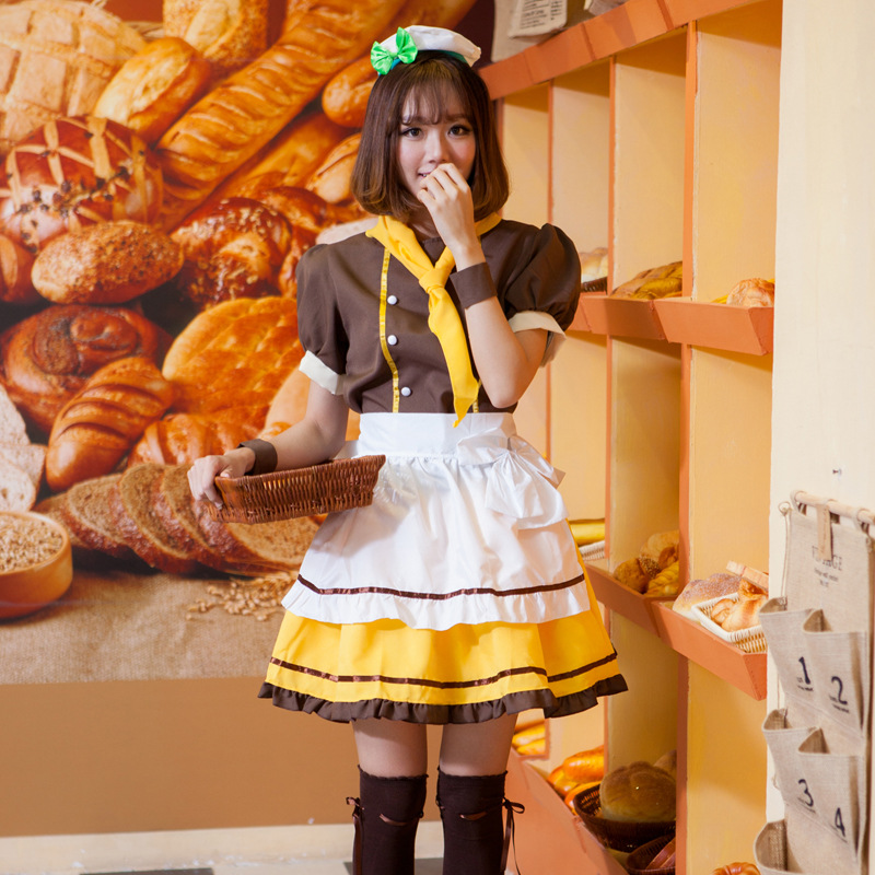 2018 hot Japanese Anime Koizumi Hanayo Love Live Maid Uniform Princess Lolita Dress LoveLive Cosplay Costume Stage Suit one size