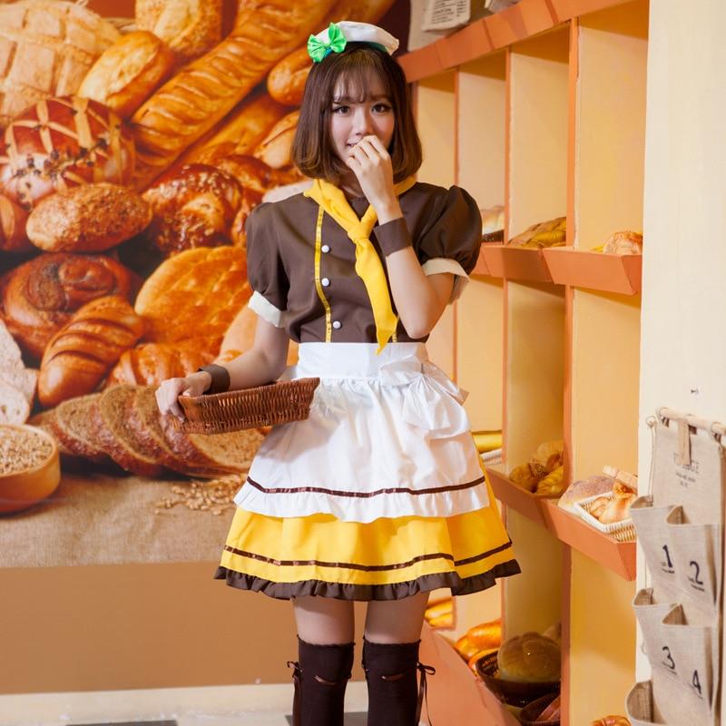 2018 hot Japanese Anime Koizumi Hanayo Love Live Maid Uniform Princess Lolita Dress LoveLive Cosplay Costume Stage Suit one size