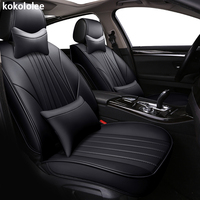 kokololee pu leather car seat covers for hyundai ix35 ix25 mercedes w211 skoda superb 2 toyota corolla vw auto accessories