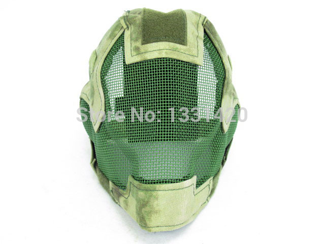 Black Bear Party Mask Airsoft Blade Mesh Mask A-TACS FG Camo Face Dance Mask