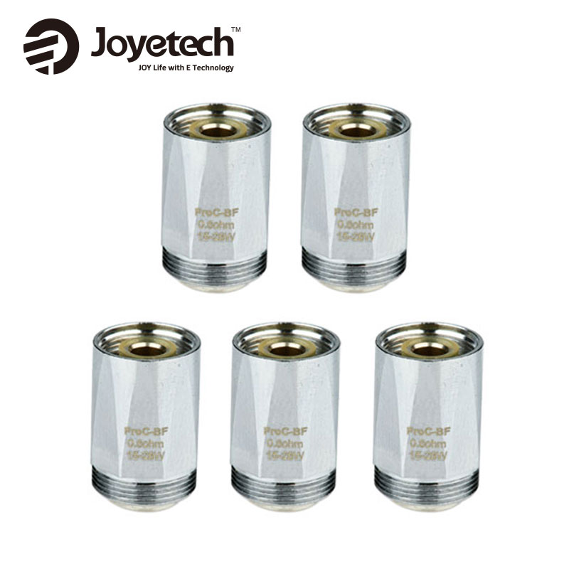 цена Authenticl 5pcs Joyetech CUBIS 2 ProC-BF Coil Head for CuAIO Kit/CuBox Kit 0.5ohm/0.6ohm/1.0ohm/1.5ohm Tank Atomizerfor E-cig