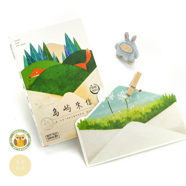 30 Pcs Pack Creative Letter From The Island Greeting Card
