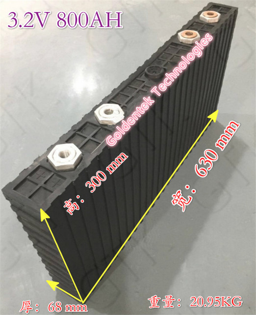 Lifepo4 Battery 800ah 32V Batteria Lifepo4 800AH For Diy 36V 800AH