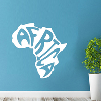 Naklejki Ścienne Winylowe Naklejki ścienne Pokoju Projekt Kontynentu Afryka Mapa Słowa Diament Poziom Artisitc Dekoracje