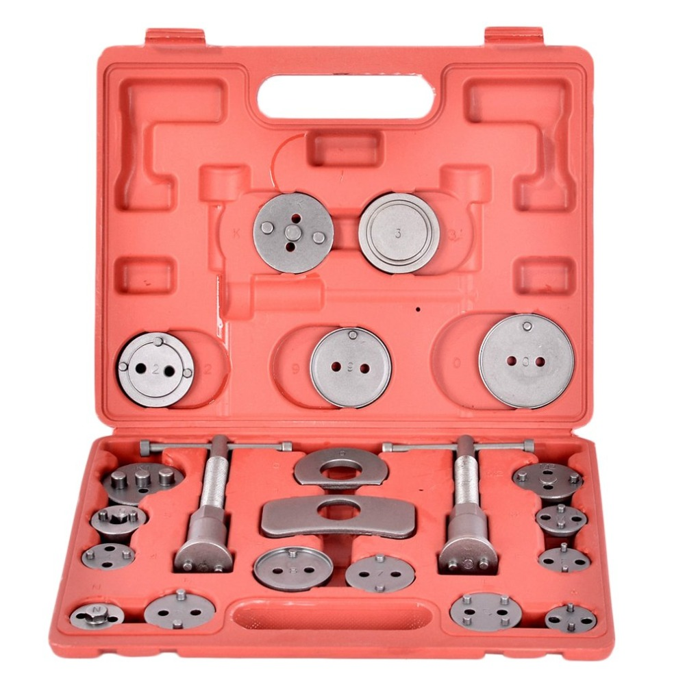 22pcs/21pcs Universal Disc Brake Caliper Piston Compressor Wind Back Repair Tool Kit for Cars Brake Pad Tool J15C17