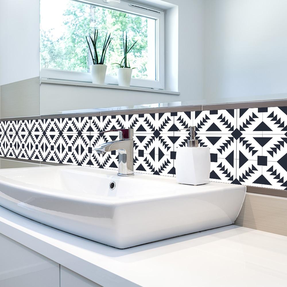 PVC Waterproof Self adhesive Tile Wallpaper Roll 3D Wall Floor ...