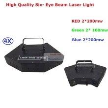4шт/Лот Цена со скидкой профессиональный лазерный луч этапа 900мвт RGB полноцветный Луча 4 ЧС с DMX512 быстрая доставка