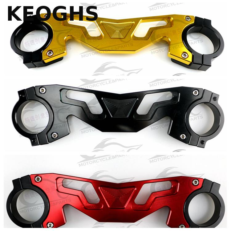 Keoghs Motorcycle Front Shock Absorber/fork Tube Clamp Cnc Aluminum For Honda Msx125/pls Check Size Before Order 320mm motorcycle fork rear nitrogen shock absorber for bws100 bws125 rd250 350 pit atv scooter motorbike colorful