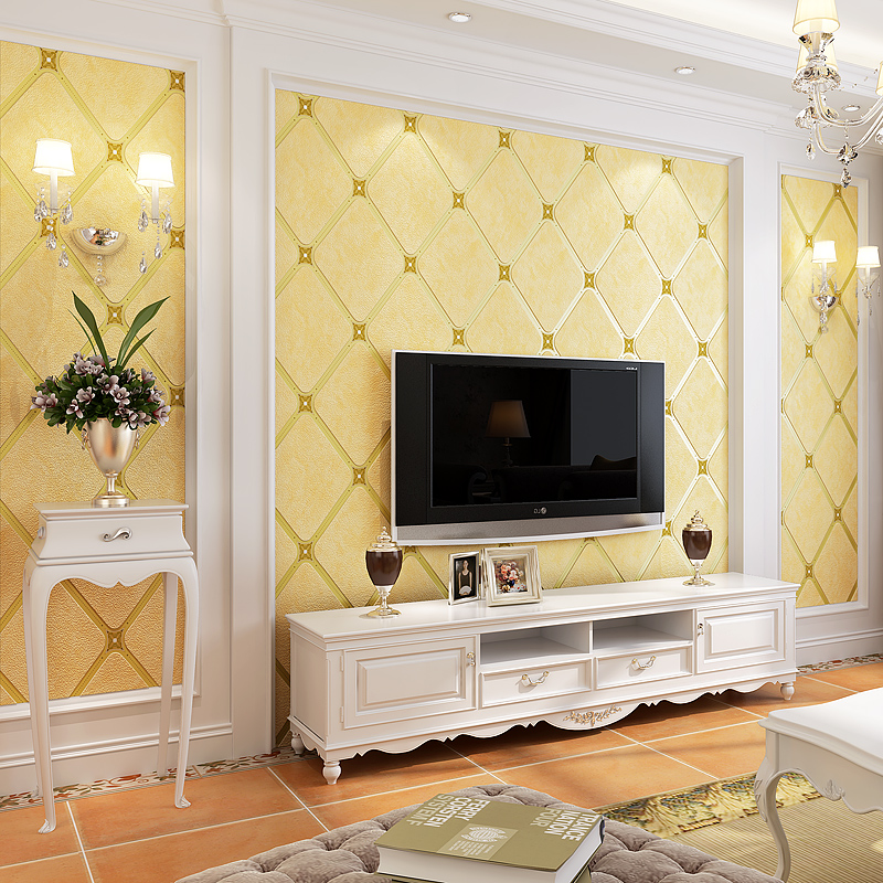 PAYSOTA 3D High Quality Deer Leather Wall Paper Bedroom Living Room Sofa TV Background Diamond-shaped Lattice Wallpaper Roll paysota pink wallpaper romantic bedroom living room pure color children room wall paper roll