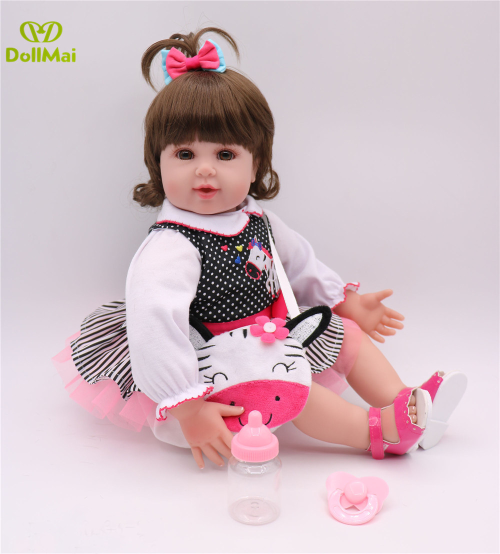 50cm Silicone Reborn Baby Doll Toys High-end Girls Brinquedos bonecas reborn toddler dolls Birthday Gift  Princess Dolls Toy  50cm Silicone Reborn Baby Doll Toys High-end Girls Brinquedos bonecas reborn toddler dolls Birthday Gift  Princess Dolls Toy