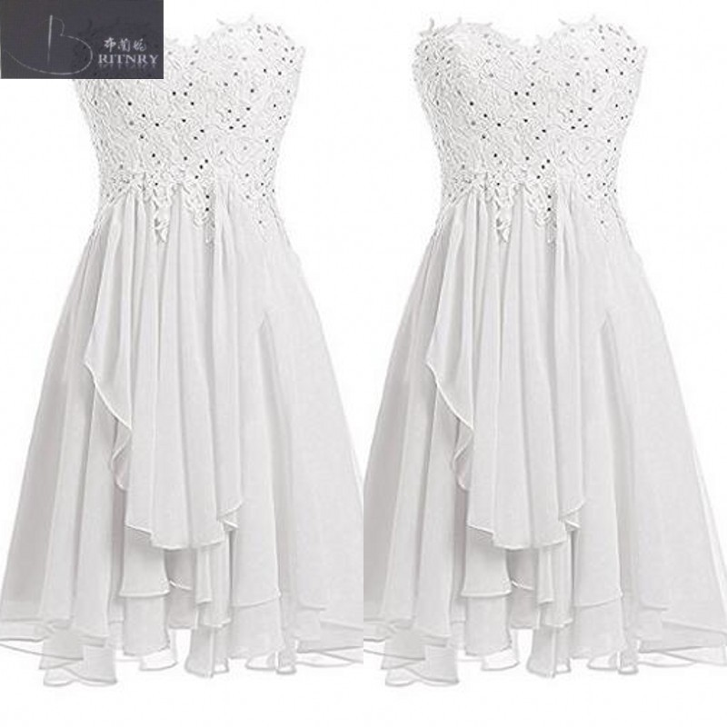 Simple Style Sweetheart Neck A Line Lace And Chiffon Beach