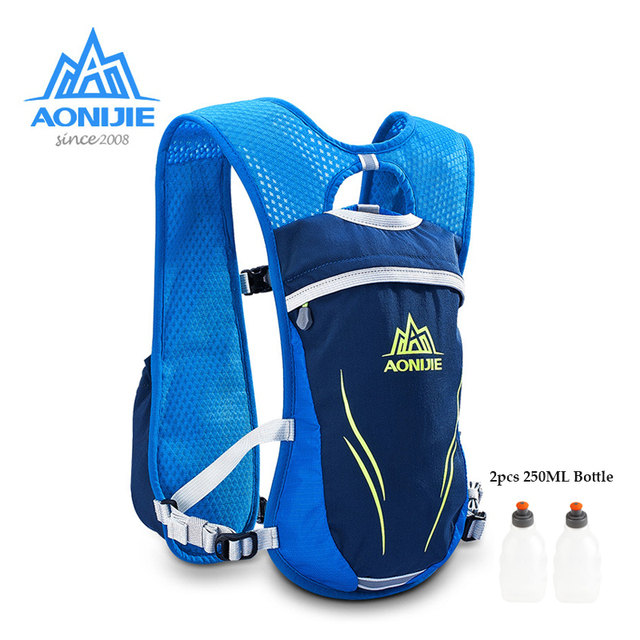 AONIJIE E885S Nylon 5.5L Outdoor Running Bags Hiking Backpack Vest Marathon Cycling Backpack for 250ml Water Kettle