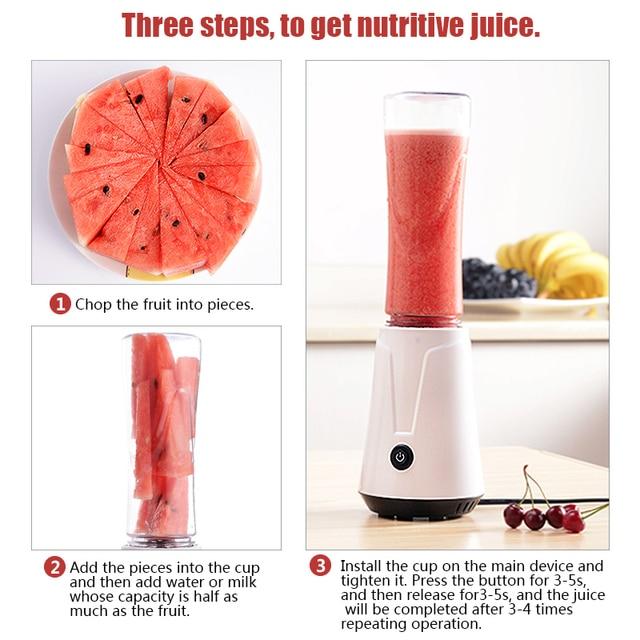 TINTON LIFE Portable Electric Juicer Blender Fruit Baby Food Milkshake Mixer Meat Grinder Multifunction Juice Maker Machine 1