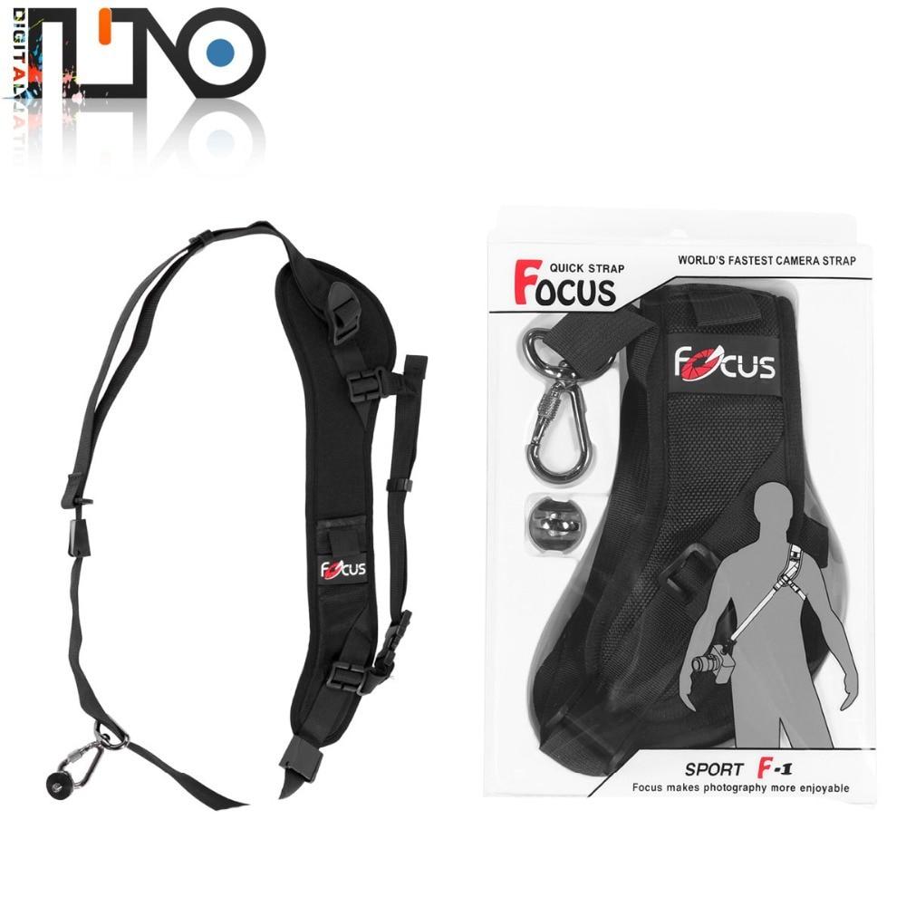 Focus F1 Quick Rapid Camera Single Shoulder Sling Black Strap Sling Sponge Pad For DSLR Camera 7D 5D Mark II D800 A77 60D 5D III