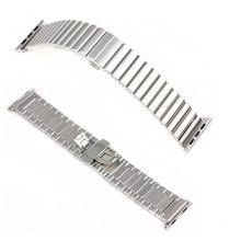 Серебряный новый замок бабочка ссылка браслет из нержавеющей стали часы для Apple , часы 38 мм 42 мм