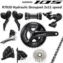 SHIMANO R7020 Groupset 105 R7020 hidrolik disk fren vites yol bisiklet R7020 R7070 R7000 shifter FC 50 34T 52 36T