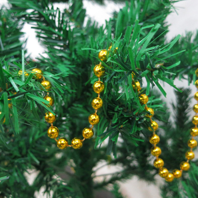 christmas tree bead chain decorative present hanging chains garland for christmas decoration christmas tree home ornaments in pendant drop ornaments from - Garland For Christmas Tree