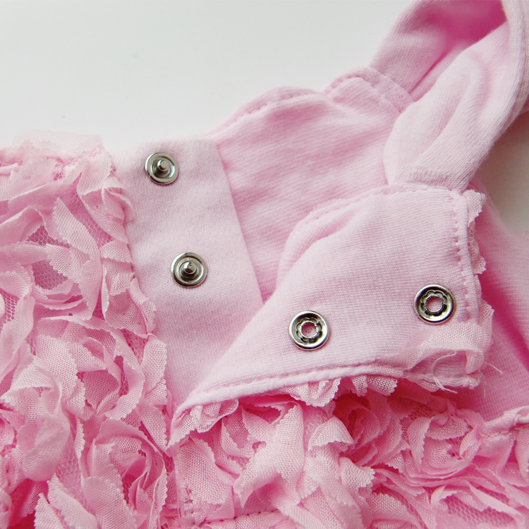 Summer Style Baby Girls Dress Infantil Sleeveless Rosette Flowers Dresses Princess Baby Girl Suspender Dress Kids Clothes