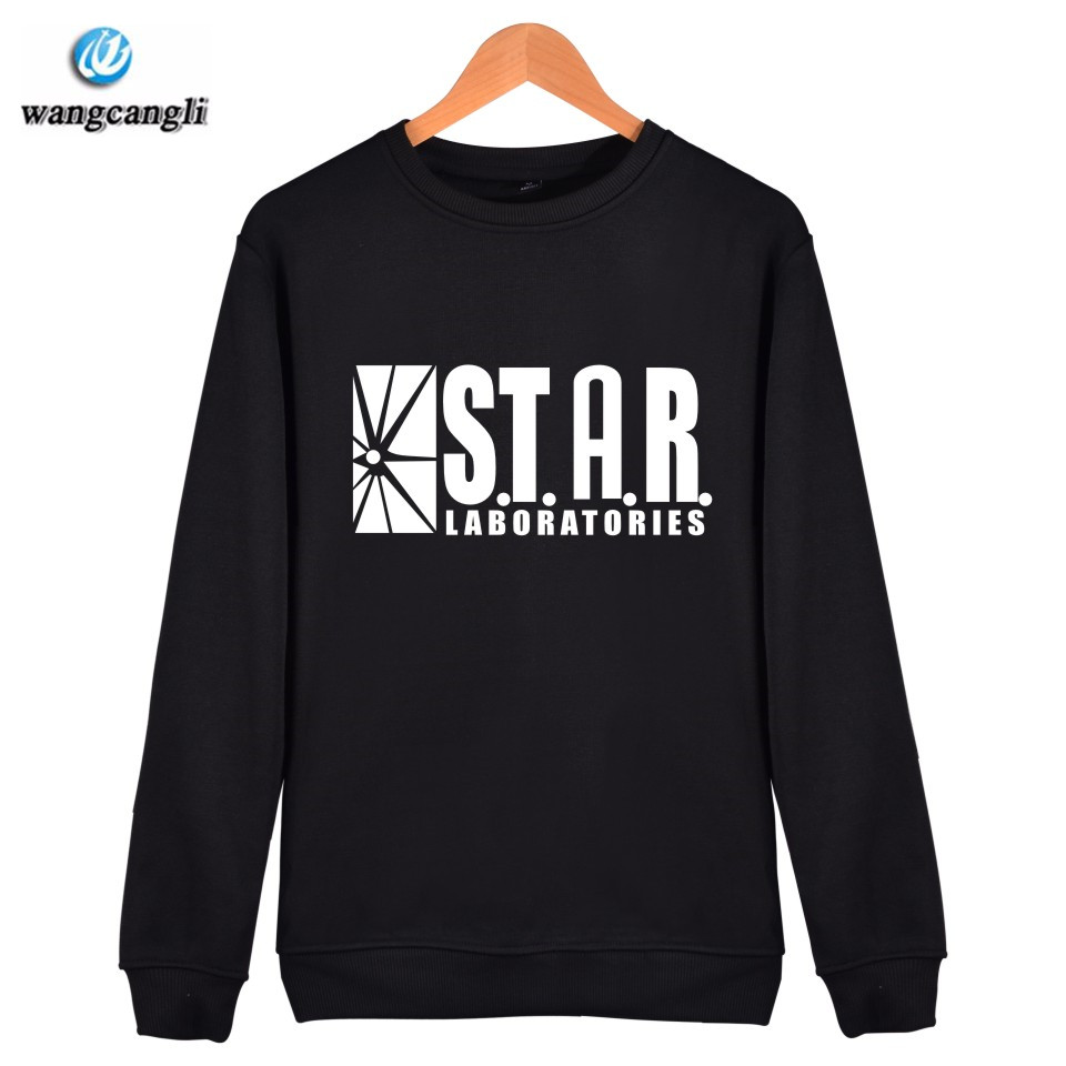 2018 STARLABS Unisex Superman Series Long Sleeve Pullover Capless Sweatshirt Women Hoodies Hip hop Winter Tracksuit Plus Size