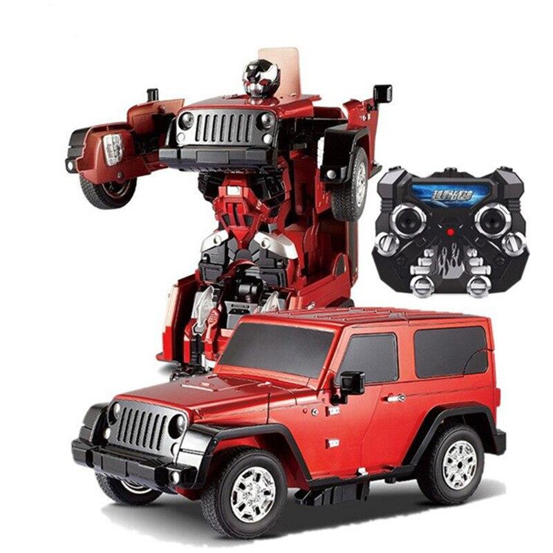 Déformation Robot de voiture Chaude TT665 électrique Transformation Télécommande RC De Voiture robot Enfant Wrangler jouet enfant meilleur cadeau vs AT-006