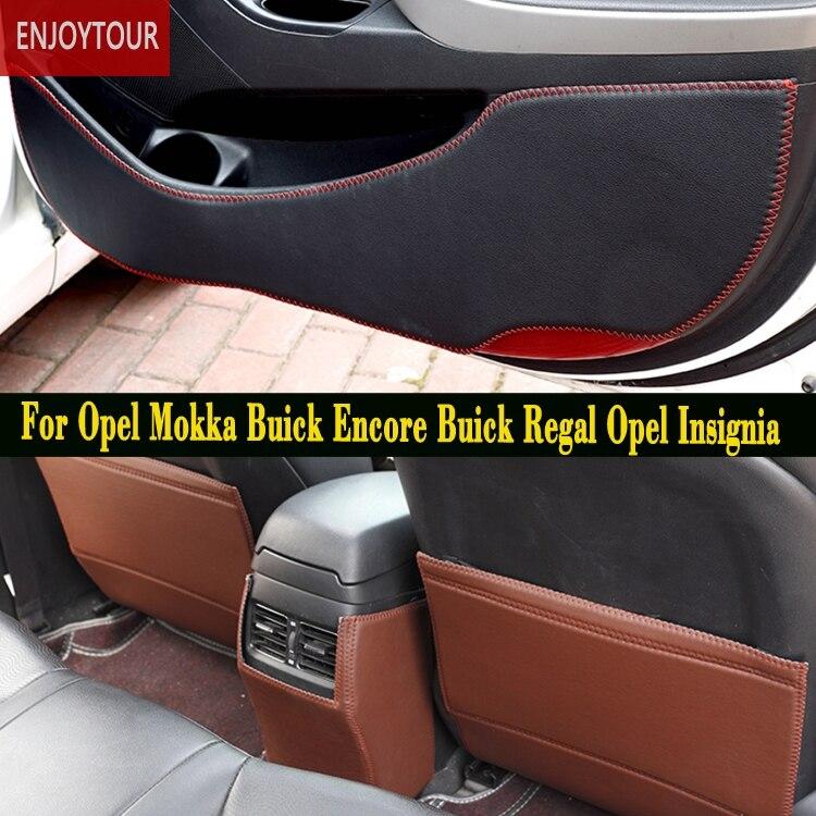 Car pads front rear door Seat Anti kick mat Accessories For Vauxhall Opel Mokka Buick Encore Buick Regal Opel Insignia