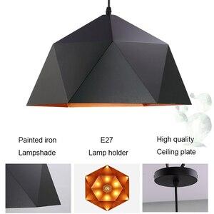Image 5 - Современные подвесные светильники в скандинавском стиле, промышленная Подвесная лампа, красочный подвесной светильник, железная Подвесная лампа для столовой, кухни, гостиной, бара