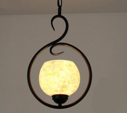 Tiffany self-study balcony corridor chandelier dream pastoral Mediterranean natural shell pendant small windows DF20 english unlimited elementary self study pack dvd rom