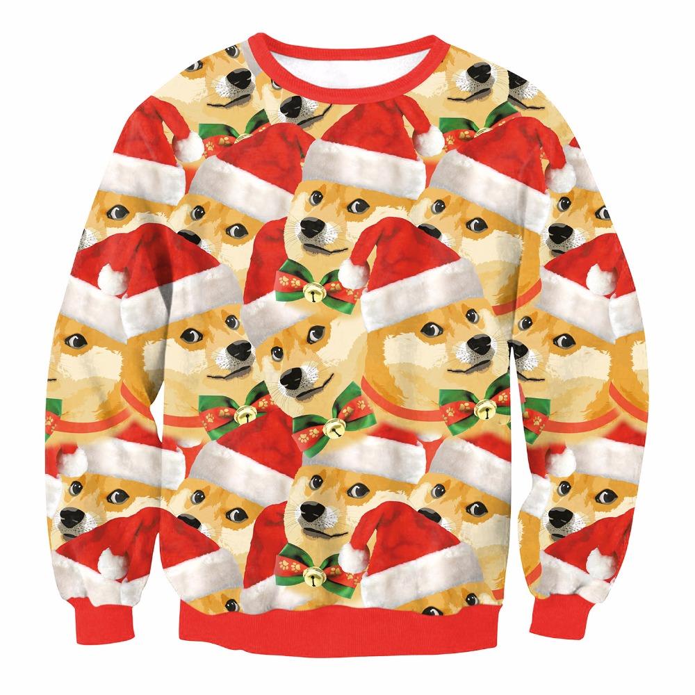 HTB1do3eoMoQMeJjy0Fnq6z8gFXaR - Christmas Patton Sweater Santa Claus Cute Print Pullover Sweater Jumper Outwear Women's Patterns of Reindeer Snowman Christmas PTC 286