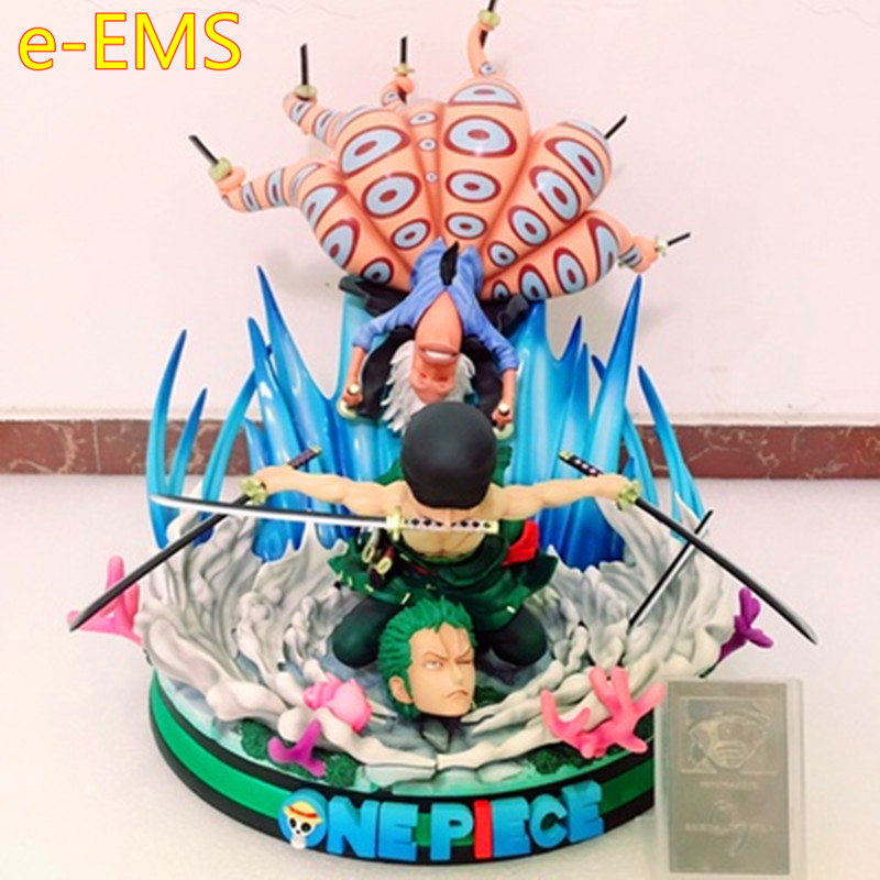 Anime ONE PIECE Roronoa Zoro VS Octopus The Fish Men Island Battle GK Resin Statue Action Figure Model Giocattolo G2548Anime ONE PIECE Roronoa Zoro VS Octopus The Fish Men Island Battle GK Resin Statue Action Figure Model Giocattolo G2548