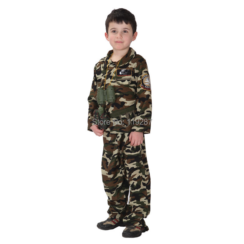 Free shipping children stage army costumes Halloween costume special forces handsome soldier dress camouflage clothing-in Boys Costumes from Novelty ...  sc 1 st  AliExpress.com & Free shipping children stage army costumes Halloween costume special ...