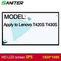 Чистящее средство lenovo T420S T430S экран высокая оценка ips 1920*1080 HD ноутбук ЖК-экран