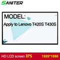 SANITER gelden Lenovo T420S T430S screen hoge score IPS 1920*1080 HD Laptop Lcd-scherm