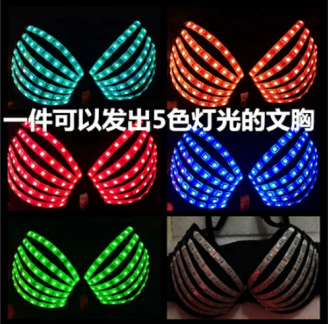 Fashion Light Up Bra Led Costumes Star Ds Costume Dance Female Women Ds Costumes Nightclub Bar in Ballroom from Novelty Special Use