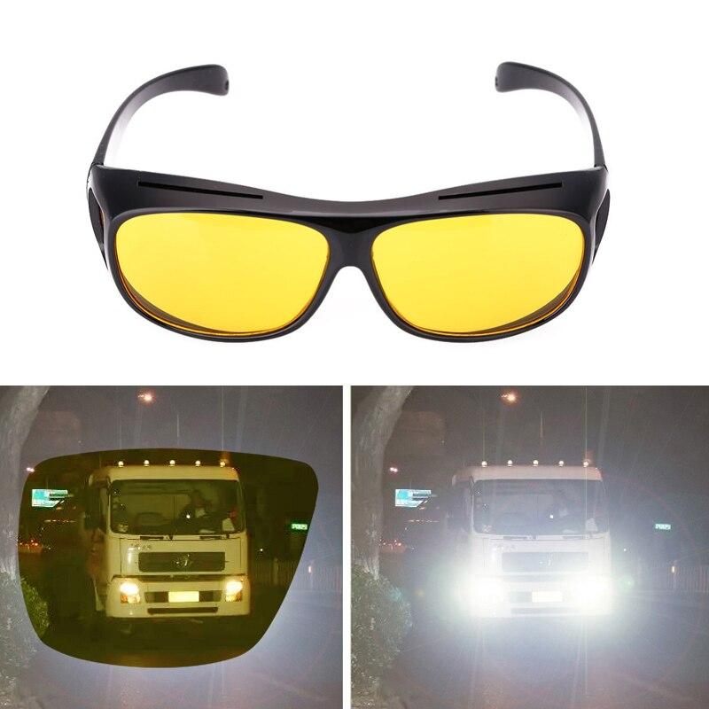 Men Women Sunglasses Goggles Car Driving Glasses Eyewear UV Protection Unisex HD Yellow Lenses Sunglasses Night Vision