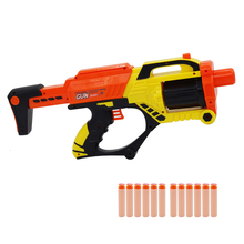 Soft Bullet Toy Gun Safe Gun Weapon EVA Darts Round Head Blasters Children Educational Airsoft Toys with 12 Bullets Outdoor Game