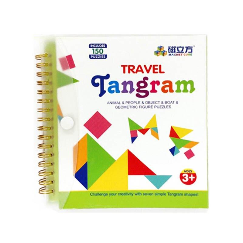 Magnetic Tangram Puzzle Toys Jigsaw-Montessori Brain Educational-Toy Birthday-Gifts Iq Kids