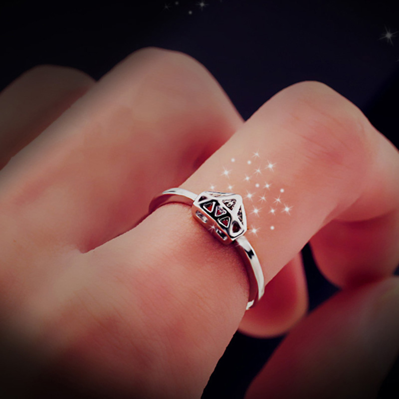 Bing Tu Creative Gold Color Geometric Piercing Rings Fashion Wedding