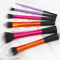 New 6pcs Professional Beginner Makeup Brush High Quality Cosmetic Brushes Real Makeup Powder Liner Brushes