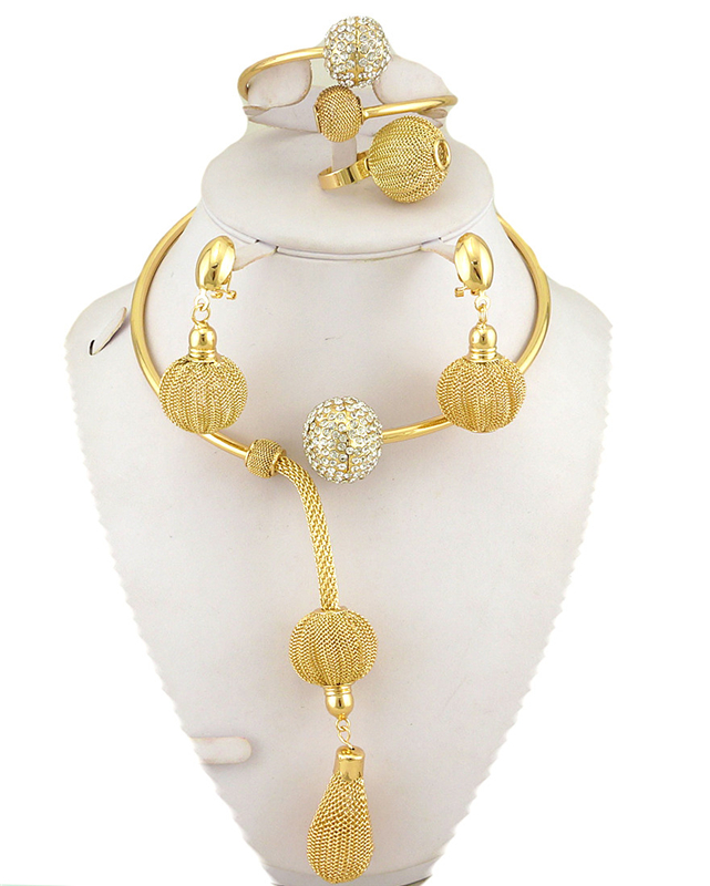 on sale new jewelry sets african big  jewelry sets high quality wedding party jewelry set  gold fashion necklace